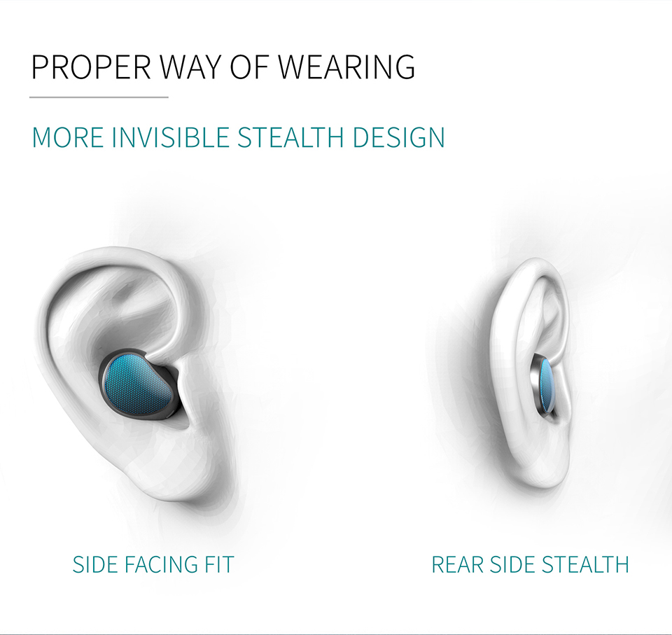 [Truly Wireless] T10 Business bluetooth Earphone TWS Stereo Invisible Voice Call Handsfree With Mic