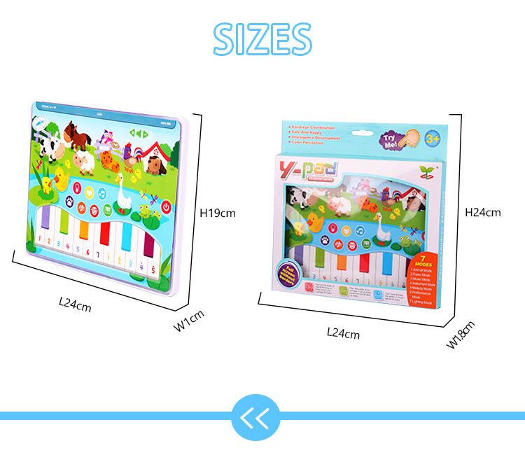 MoFun 2602B Dot Reading Learning Machine Pad English Light Music Early Education Farm Tablet Toy