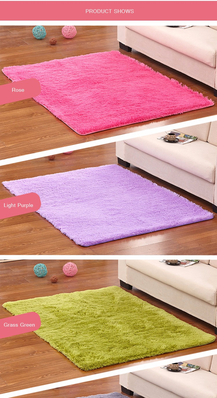 Honana WX-329 50x80cm Bedroom Living Room Soft Rug Shaggy Anti Slip Carpet Absorbent Mat