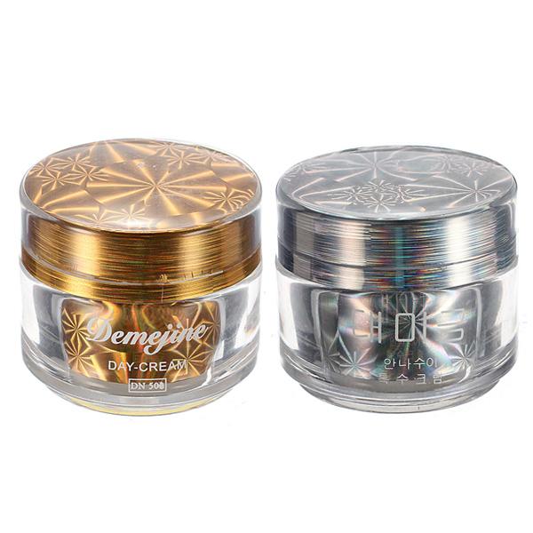Demejine Day Night Cream Anti-wrinkle Refine Skin Tone Moisture Whitening Makeup Cosmetic Protein