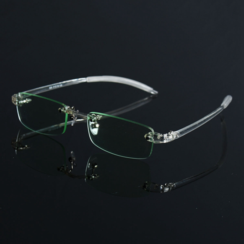 Rimless Transparent Flexible Eyeglasses Retro Glasses Spectacles Frame Plastic