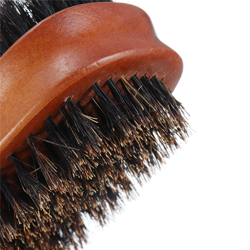 Double-sided Pig Bristle Beard Comb Brush Men's Groom Tool
