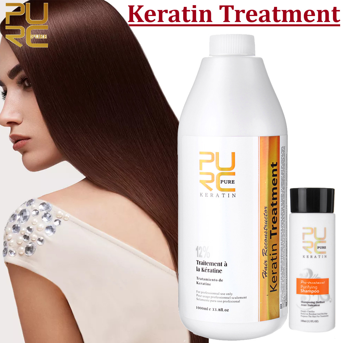 1000ml Brazilian Keratin Treatment Shampoo