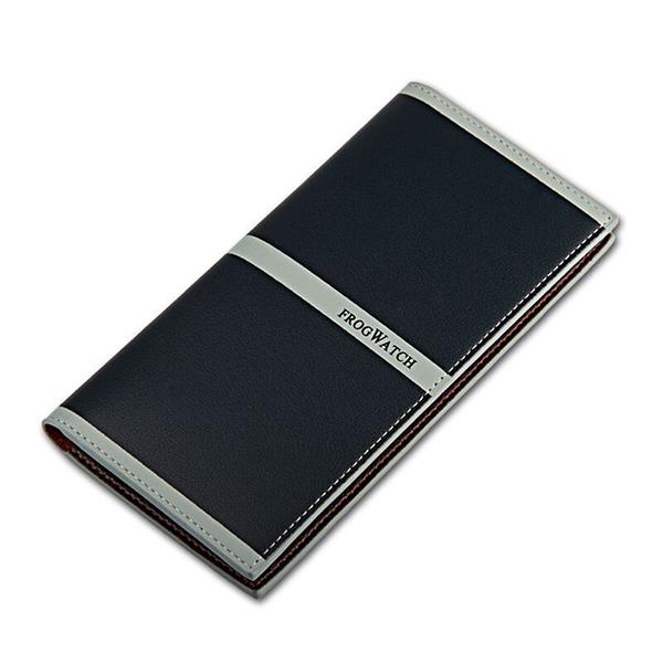Men Wallets Fashion Long Bifold Wallet Slim Multicard Money Clip with 9 Card Slots