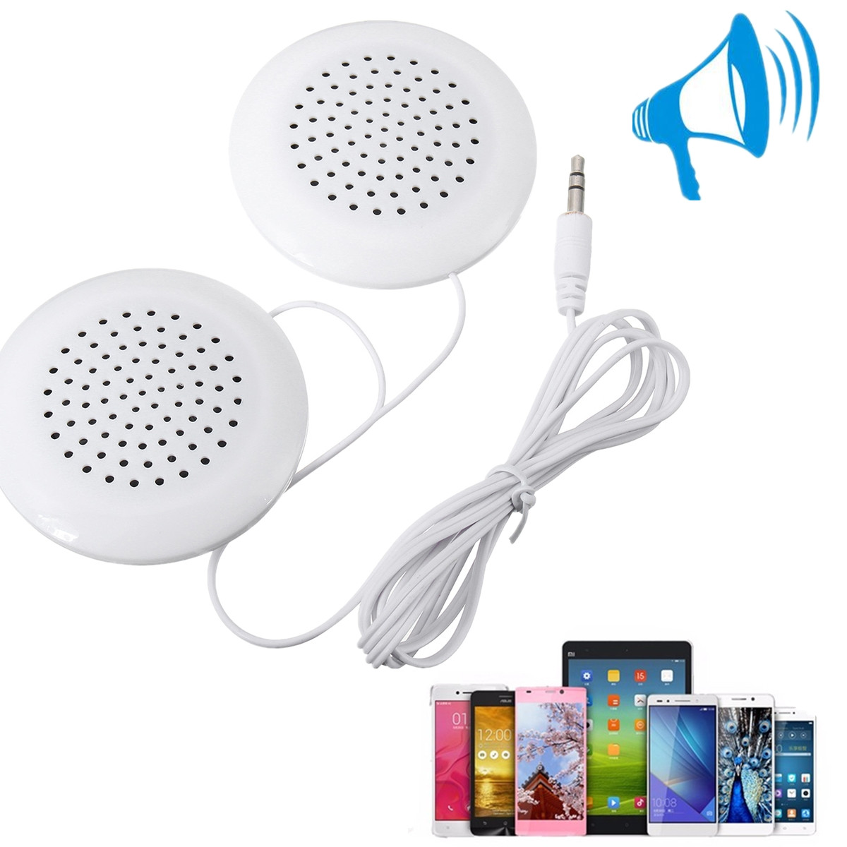 Mini Universal Neck Pillow Speaker For MP3 MP4 Player Radio for iPod for Phone