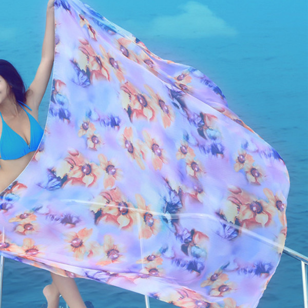 Long Scarves Sunscreen Printed Soft Shawl