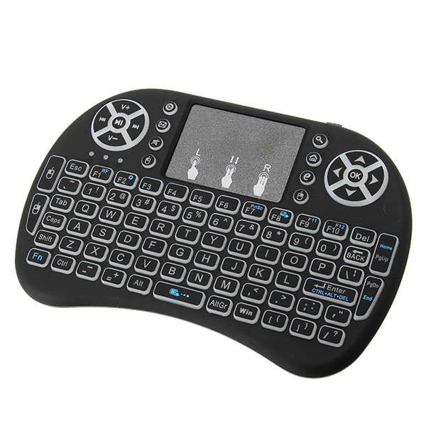 I8 White Backlit 2.4Ghz Wireless Mini Keyboard Air Mouse Touchpad