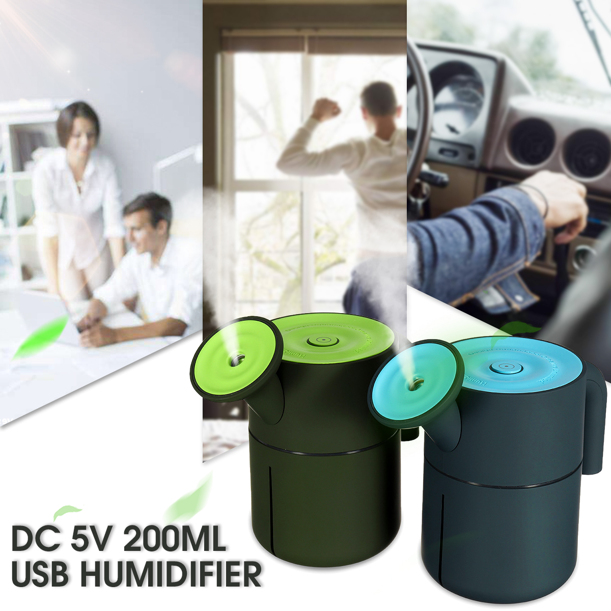 USB Ultrasonic Home Office Car Humidifier Air Oil Diffuser Purifier Atomizer Pot