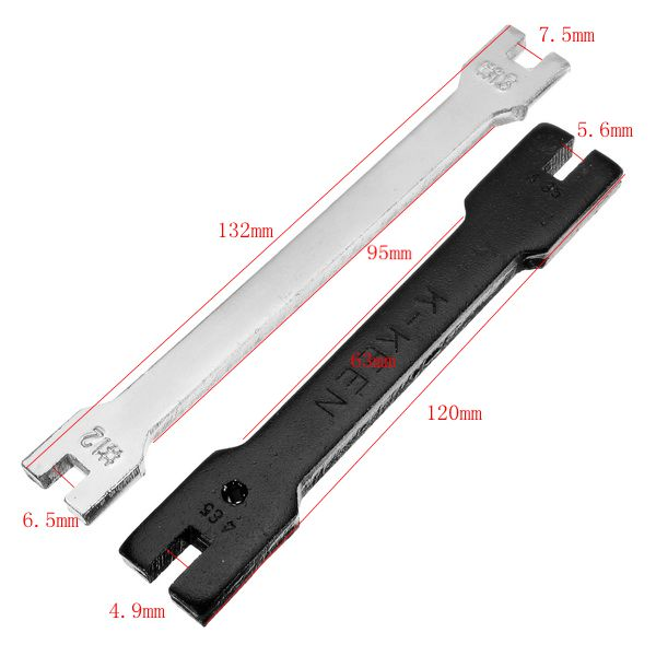 Motorcycle Steel Spoke Wrench Electric Scooter Adjustable Tool Bicycle Spanner Key