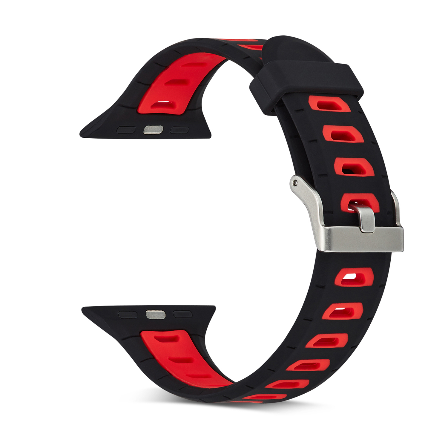 Bakeey Replacement Silicone Watch Band Strap Two-Color Strap for Apple watch1/2/3/4 Smart Watch
