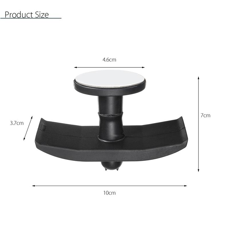 Universal Tape Hook Under Desk Headphone Stand Holder Sticky Dual Headset Hanger Mount