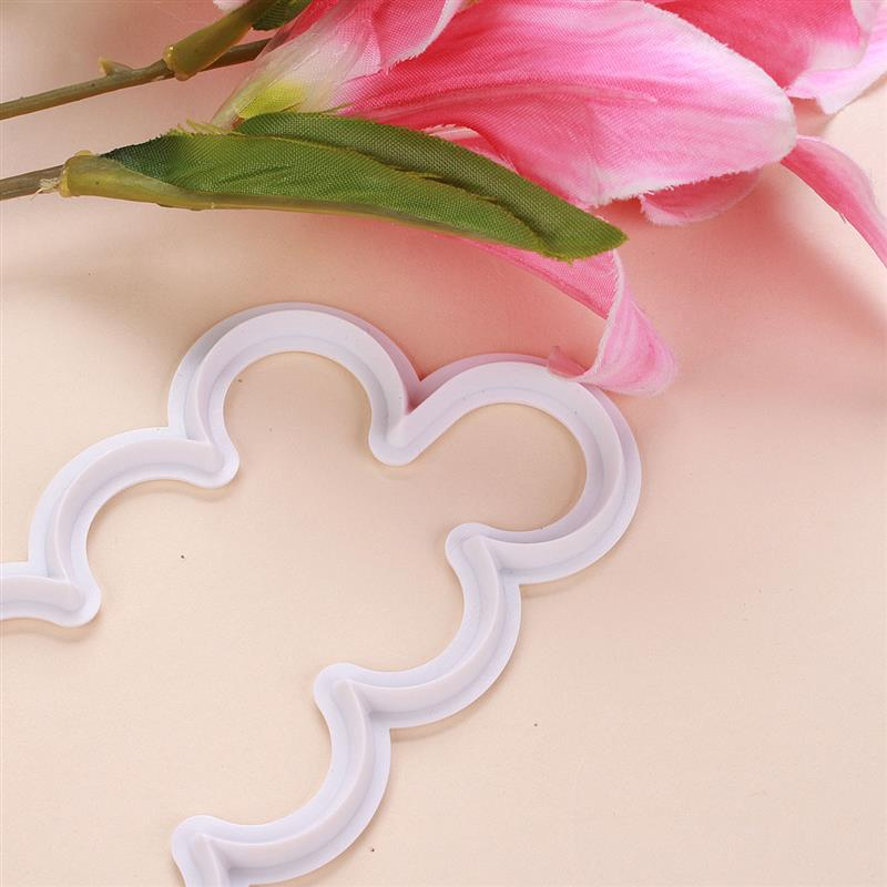 3pcs Rose Flower Petal Cutter Fondant Cake Chocolate Sugarcraft Mold Decor Tool