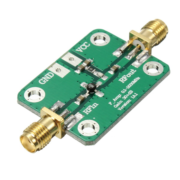 0.1-2000MHz RF Wideband Amplifier Gain 30dB Low Noise Amplifier LNA Board Module