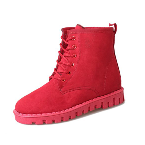 Winter Lace Up Suede Keep Warm Casual Ankle Snow Boots