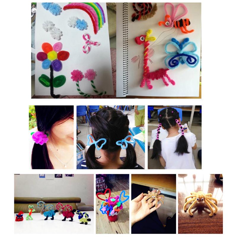 100PCS Yarn Wool Twisting Rod Color Wool Top Kids DIY Handmade Decorations Toy