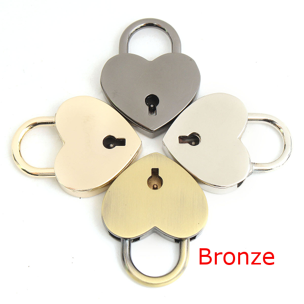 Metal Heart Shape Clasp Turn Twist Lock for DIY Handbag Bag Purse