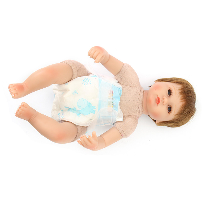 NPK 16'' Real Handmade Play House Doll Toys Real Gentle Touch Soft Body SIlicone Reborn Baby Dolls