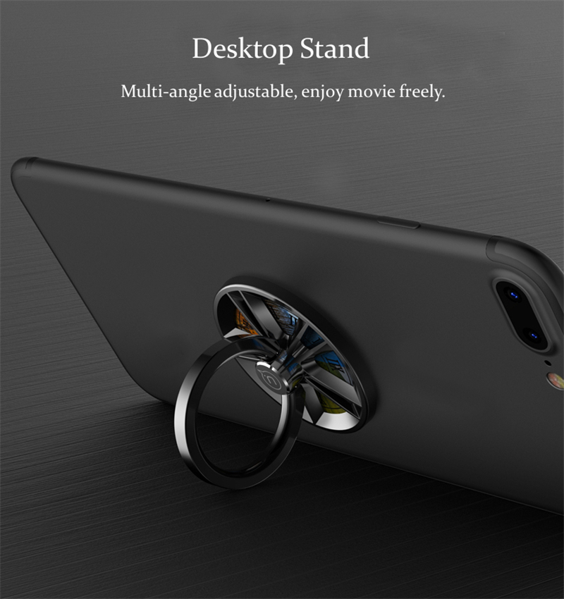 USAMS US-ZJ021 Fidget Finger Spinner Gyro Ring Bracket Desktop Stand Secure Grip Phone Holder