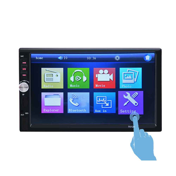 2 Din 7 Inch HD Touch Screen Bluetooth Car Radio Stereo