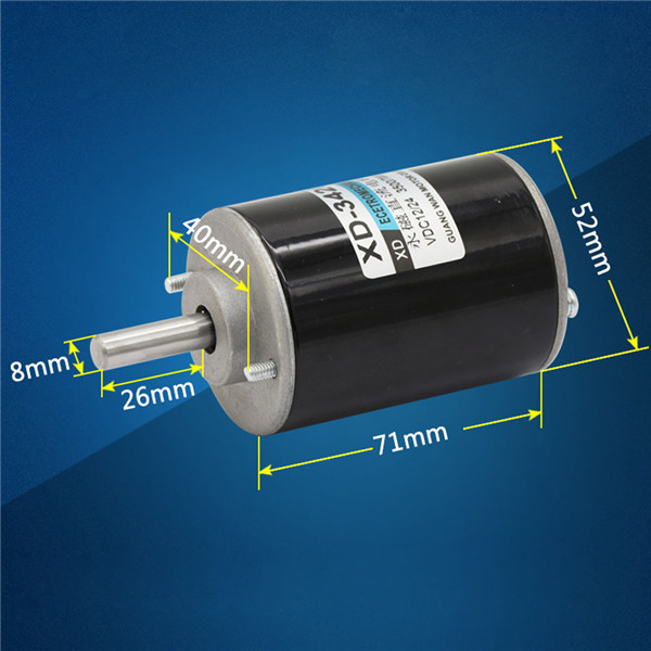 XD-3420 DC 12/24V 30W Permanent Magnet DC Motor CW/CCW Motor
