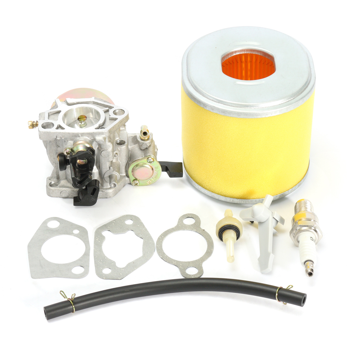 Carburetor Carb Air Filter Spark Plug Fuel Valve Pipe For Honda GX340 11HP