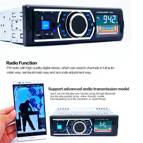 Car Radio Stereo Head Unit Player MP3/USB/SD/AUX-IN/FM In Dash IPod with bluetooth Function