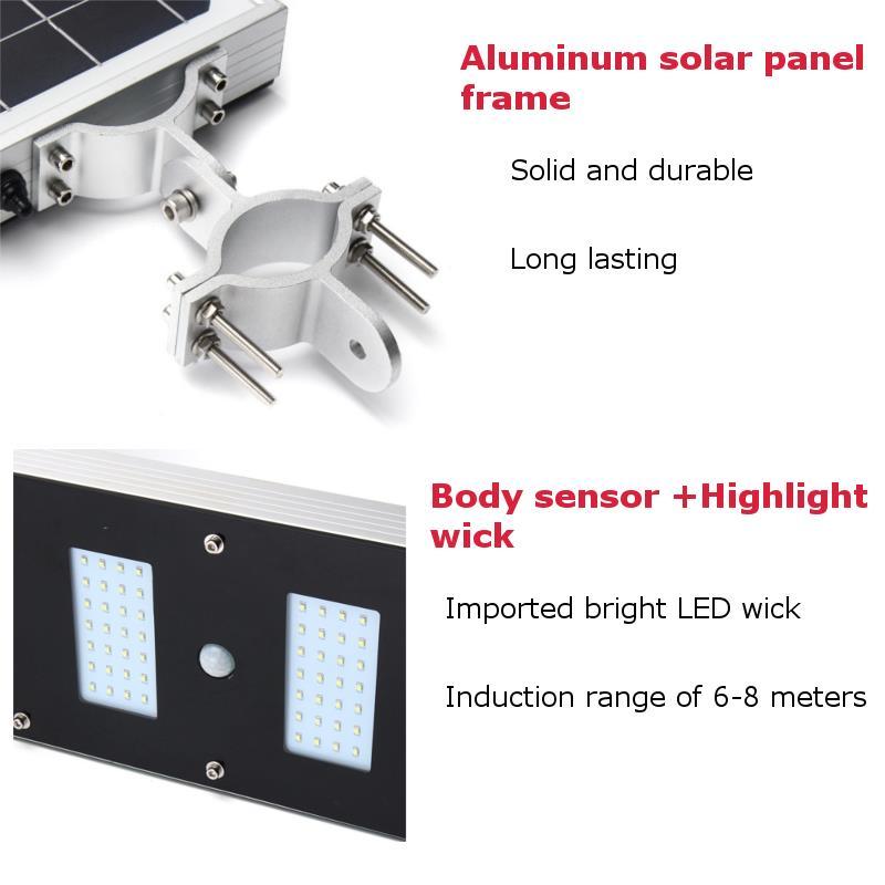 Solar Panel Solar Powered LED Dusk-to-Dawn Sensor Outdoor Waterproof Security Street Solar Light