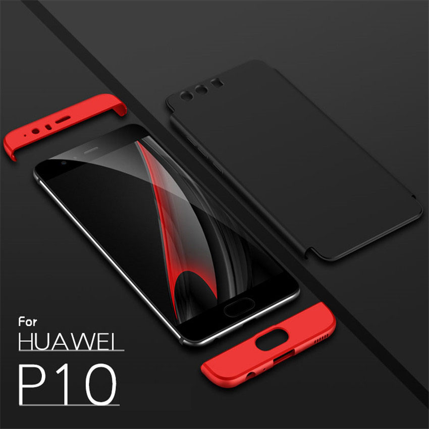 Bakeey™ 3 in 1 Double Dip 360° Full Protection Hard PC Cover Case For Huawei P10 Huawei P10 Plus
