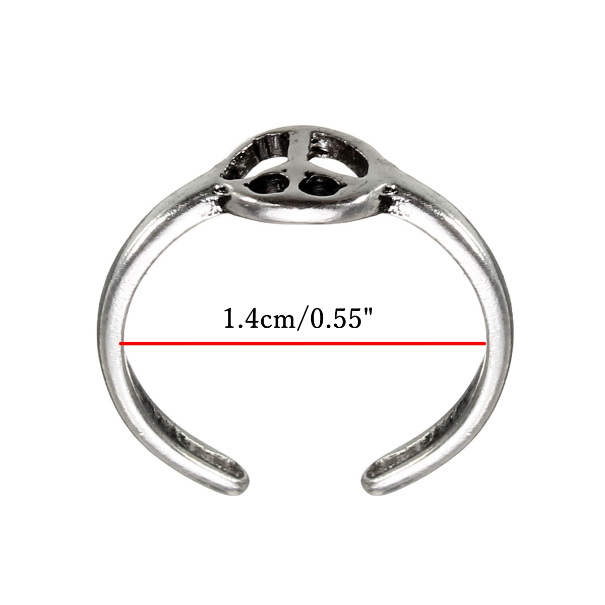 Silver Toe Foot Finger Punk Ring Women Body Jewelry