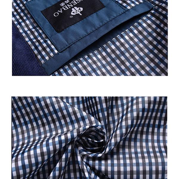 Männer Beiläufige Enganliegende Reißverschluss Einreihige Knopf Baumwolle Moderne Jacke