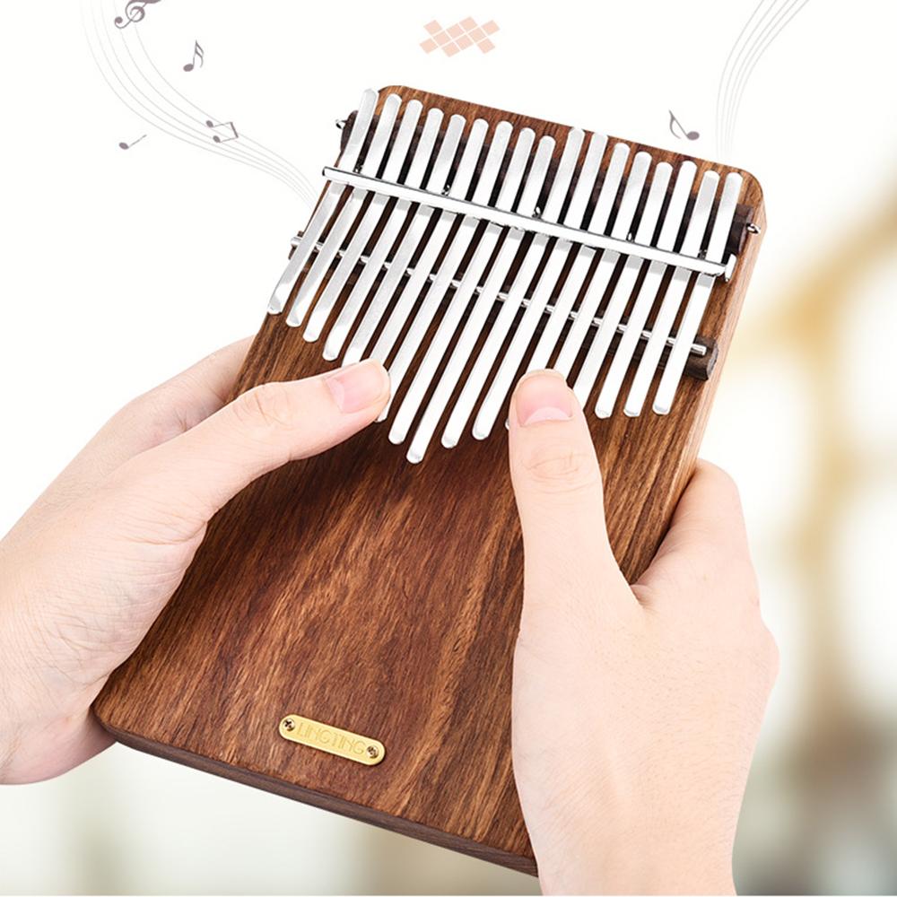 LINGTING LT-K17P 17 Keys Rosewood Plate Africa kalimba Thumb Piano With Pick UP Coupon d0896c
