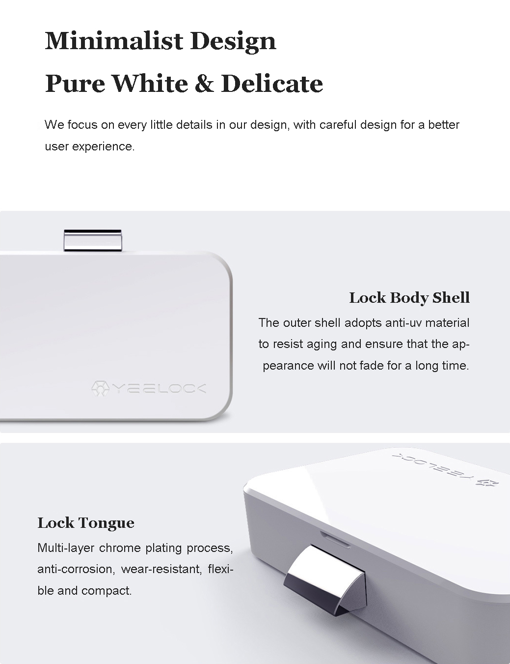 Xiaomi YEELOCK Smart Drawer Cabinet Lock Keyless bluetooth APP Unlock Anti-Theft Child Safety File Security