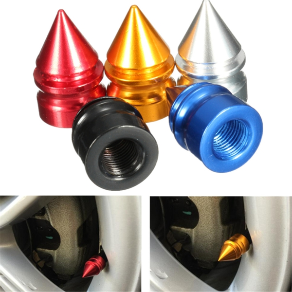 4PCS Aluminum Tire Rim Wheel Valve Cap Airtight Dust Cover Universal For Car Van Bike Motor Bike