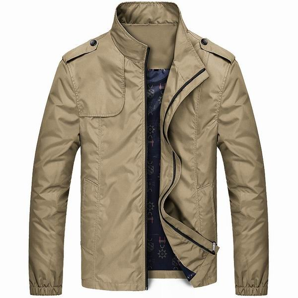 57ab055f6612 light weight mens water repellent stand collar jacket at Banggood ...