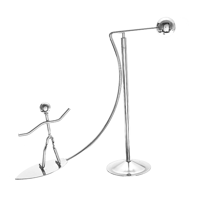 Newton's Cradle Metal Dynamic Balancing Instrument Doll Man Figure Model