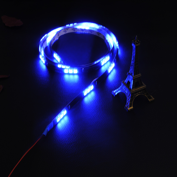 120CM 45SMD LED Light Car Auto Decor Flexible LED Strip Light Waterproof DC 12V