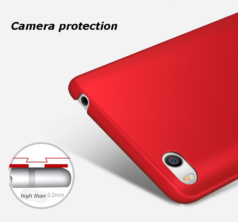 Silky Hard PC Protective Back Cover Case For Xiaomi Mi 5s Mi5s