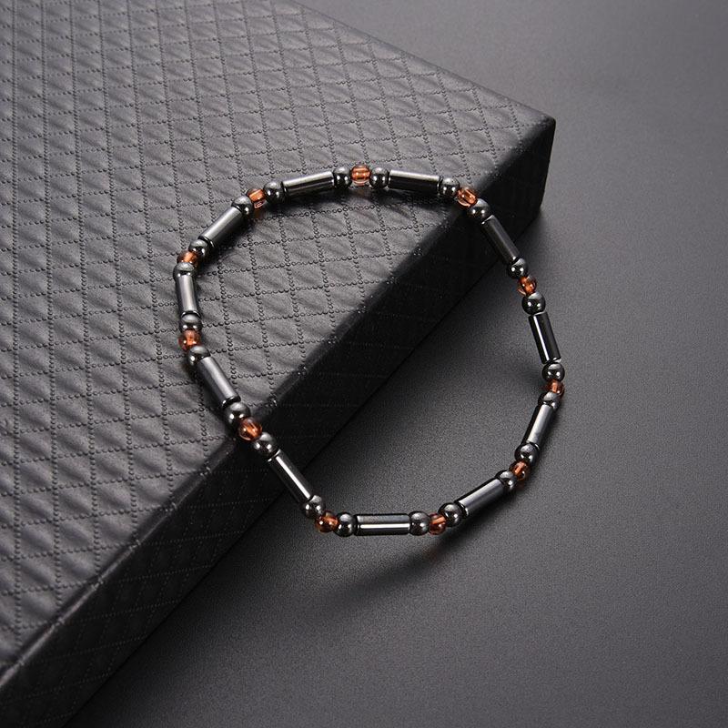 Unisex Minimalism Magnet Stone Beads Elastic Anklet Bracelet