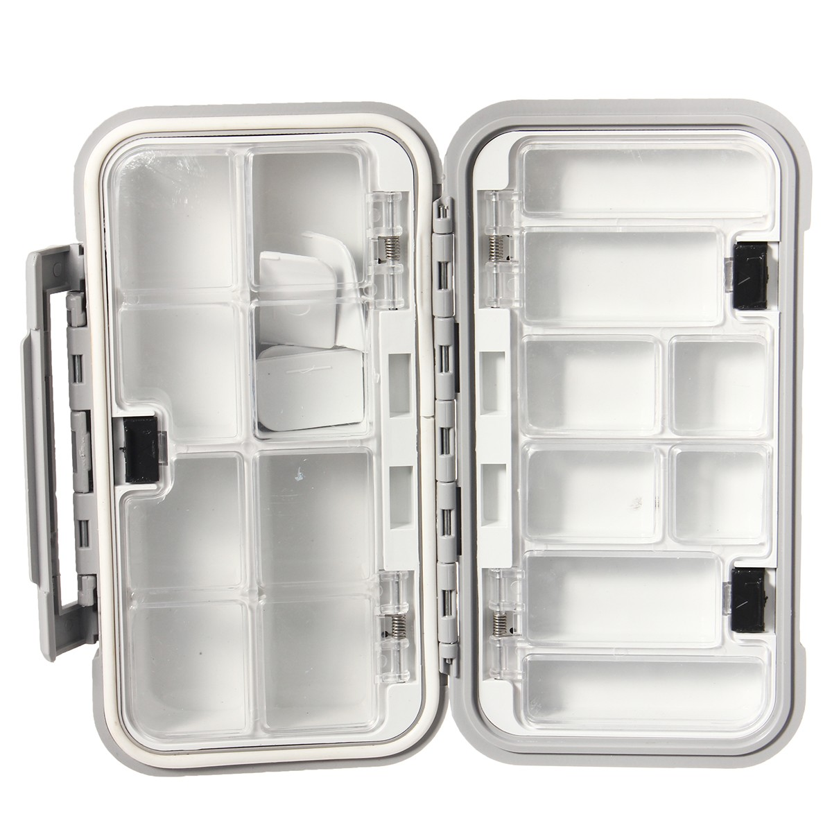 ZANLURE Fishing Storage Box Lure Hook Bait Tackle Waterproof Case with 16 Compartment