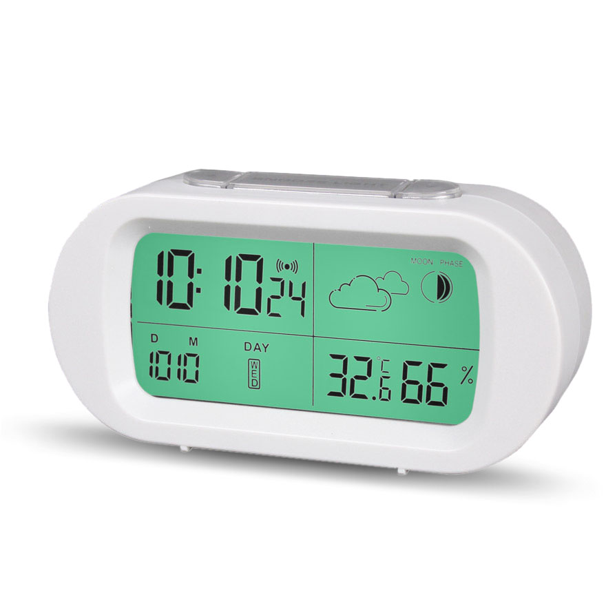 Loskii HC-103 Eco-Friendly Battery Free Water Powered Clock with Alarm Thermometer Weather Station