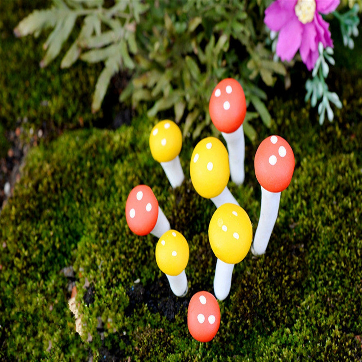 Micro Mushroom Landscape Resin Potted Plant Microlandschaft Garden DIY Ornaments