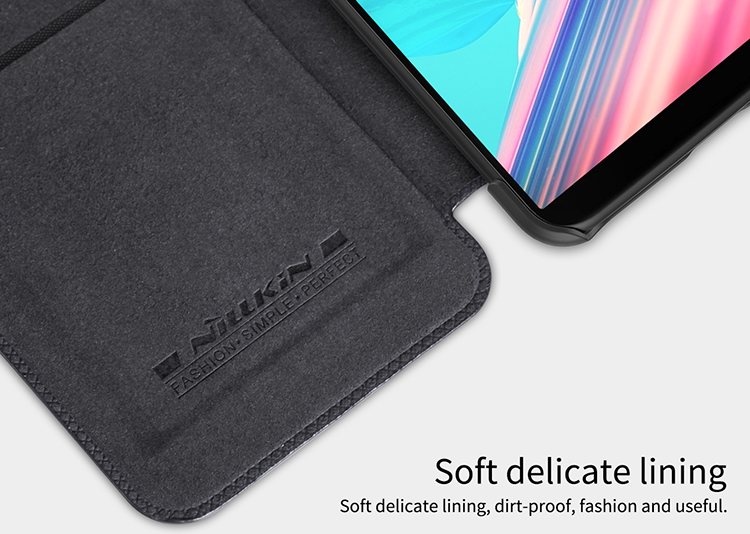NILLKIN Ultra Thin Flip Slot Smart Sleep PC&PU Leather Case For OnePlus 5T