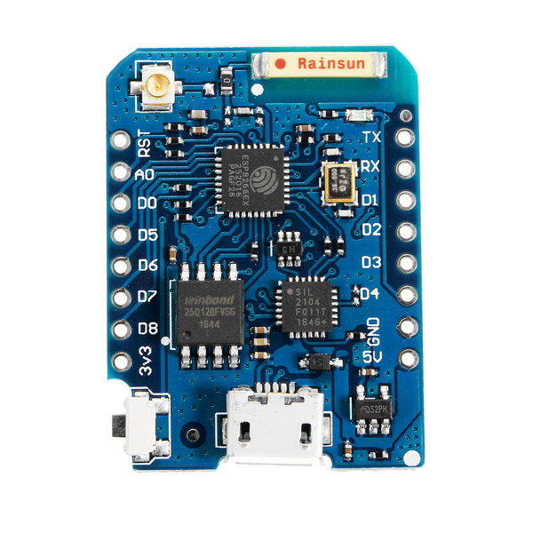 WeMos® D1 Mini Pro-16 Module + ESP8266 Series WiFi Wireless Antenna