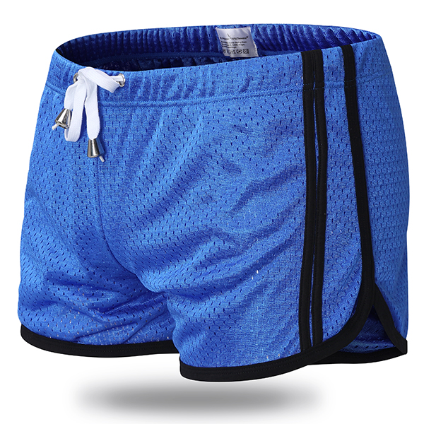 Men Summer Mesh Breathable Boxers Fashion Sports Casual Beach Fitness Shorts