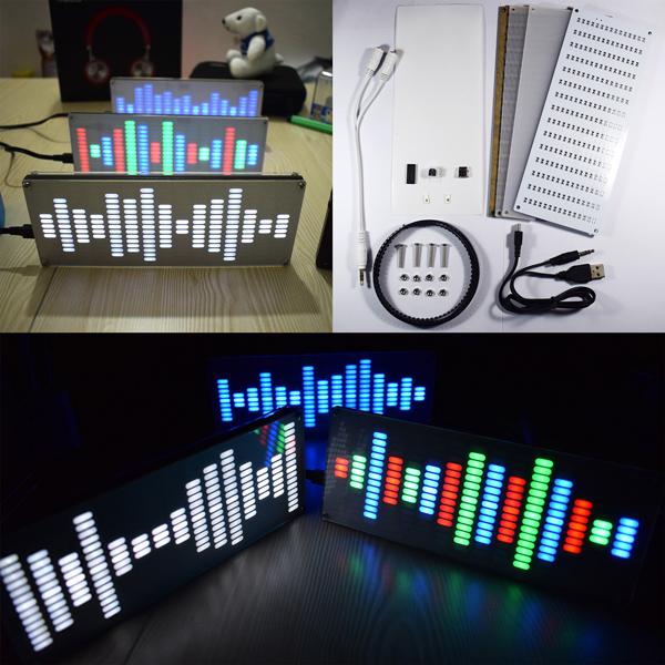 Geekcreit DIY Big Size Touch Control 225 Segment LED Digital Equalizer Music Spectrum Sound Waves Kit