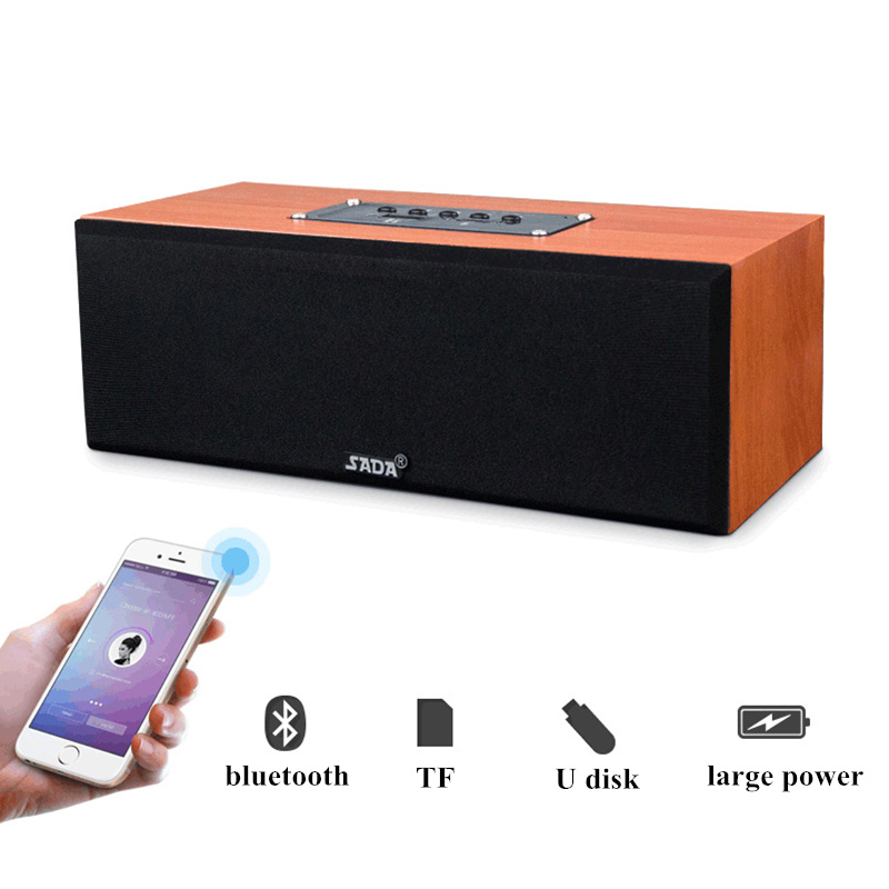 SADA A3 Wooden Portable Wireless bluetooth Speaker Dual Stereo Loudspeakers Subwoofer
