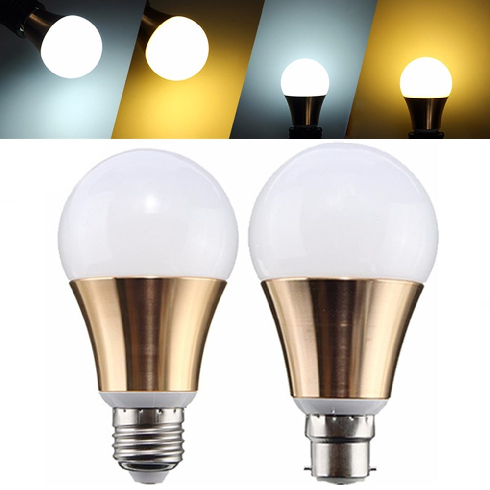 Non-Dimmable E27 B22 9W 5730 SMD Bayonet Gloden LED Light Globe Bulb Lamp AC85-265V