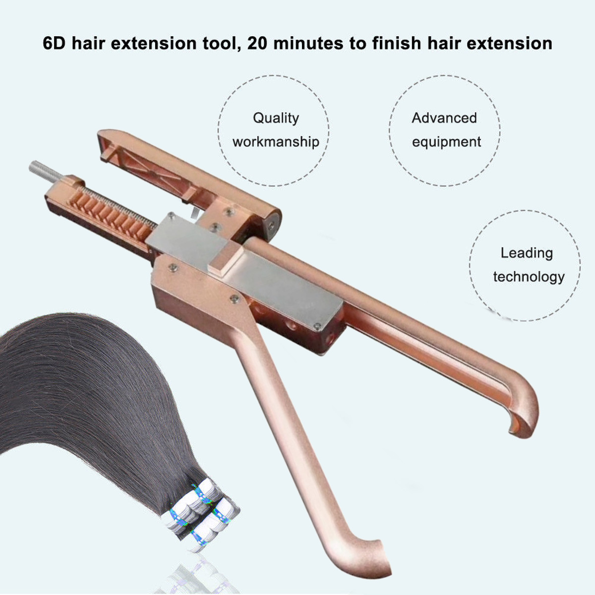 6D Hair Extensions Machine Salon Fusion Tools