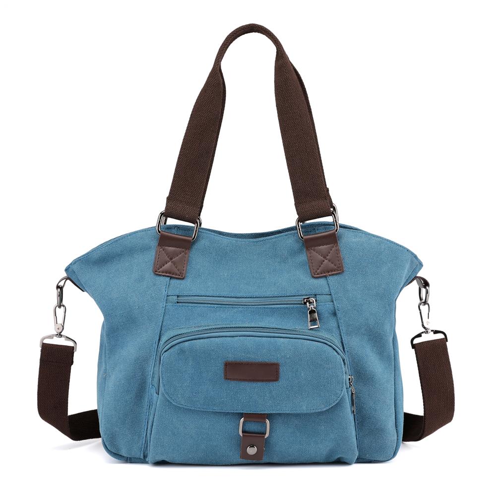 KVKY Women Handbag Minimalist Fashion Canvas Crossbody Bag