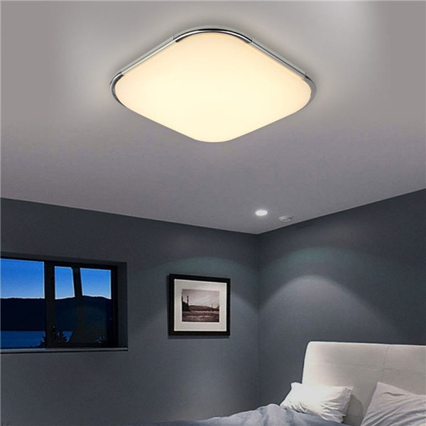 24W Modern Acrylic LED Ceiling Light Warm White/White Mounted Lamp for Kitchen Bedroom AC110-220V